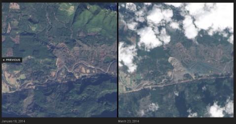 El 22 de marzo de 2014, un deslizamiento de tierras por lluvias cerca de Oso, Washington, una avalancha de escombros y fango arrasó la zona. Al menos 14 personas murieron y 176 personas desaparecieron.