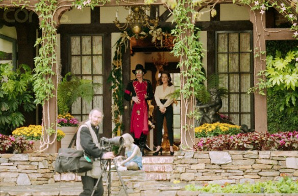 Michael Jackson and Lisa Marie Presley at Neverland Ranch